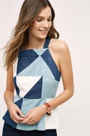 Fitted Triangle Anthropologie Top