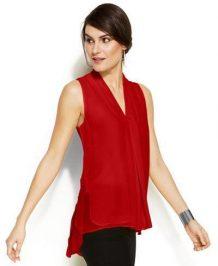 Red top for Skinny pants Macys