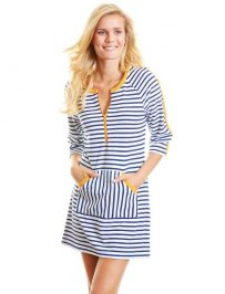 Stripes Long Striped SPF Coverup