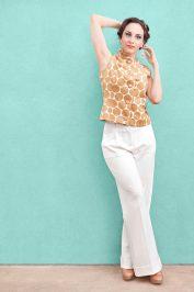 Woman White Pants